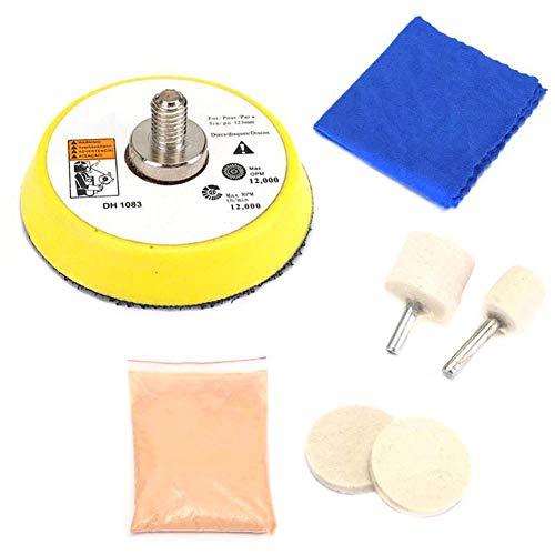 feeilty DIY Cristal Kit De Reparación del Rasguño, Coche De Cristal Kit...