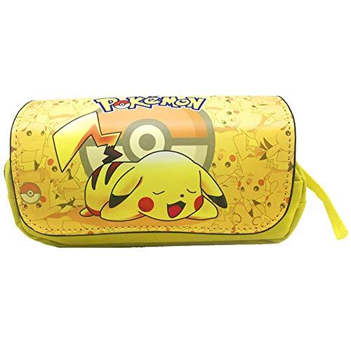 Estuche de lápices Pokemon, NALCY Pikachu Estuches Escolares, Estuche de lápices con impresión 3D, Funda Organizador Portalapices de Gran Capacidad Portátil para Adolescentes Estudiantes