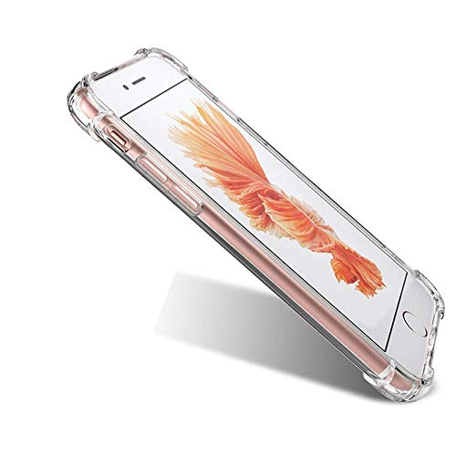 GANAN Funda Compatible con iPhone 7 Plus/ 8 Plus, Anti-Rasgunos,Transparente, Anti-Choques, Carcasa Funda (iPhone 7Plus /8Plus)