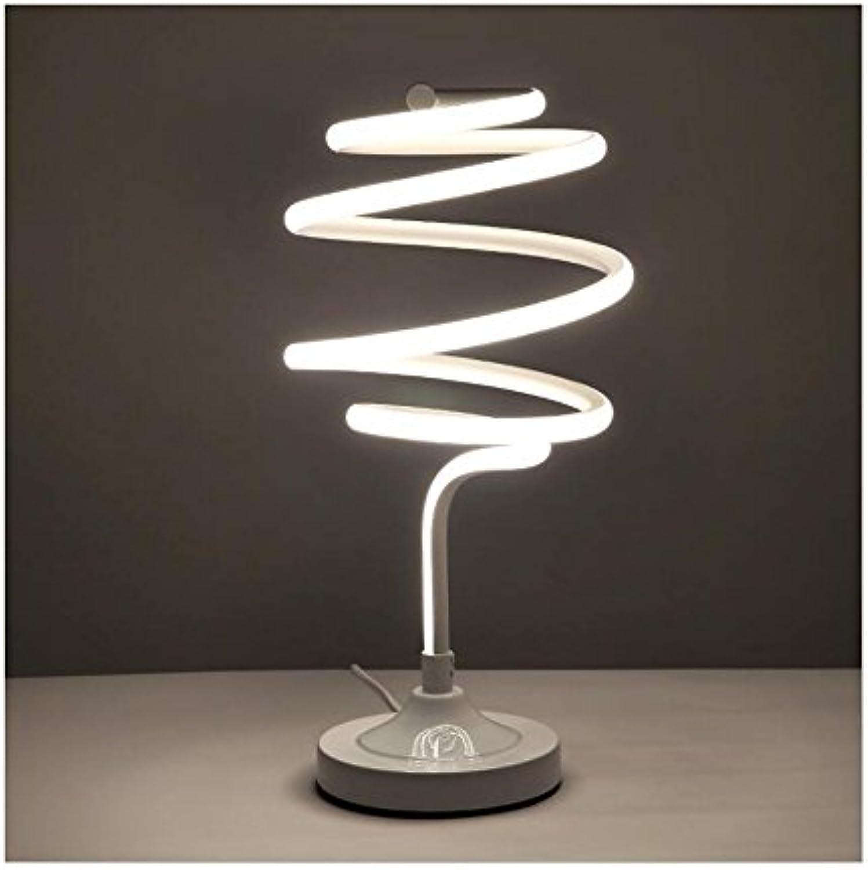 Smart Acryl Augenschutz LED Tischleuchte Curved LED Schreibtischlampe Zeitgenssische Minimalistische Beleuchtung Design Warmes Weies Licht 47W 110-240V,Weiß,Neutrallight