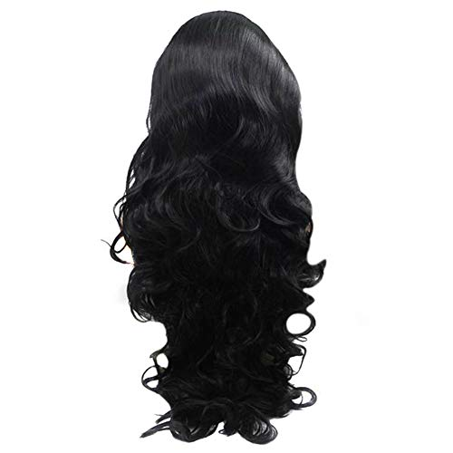 Aemiy Women Lady Full Wig Hair Wave Long Curly Black Fashion Charm for Party Cosplay