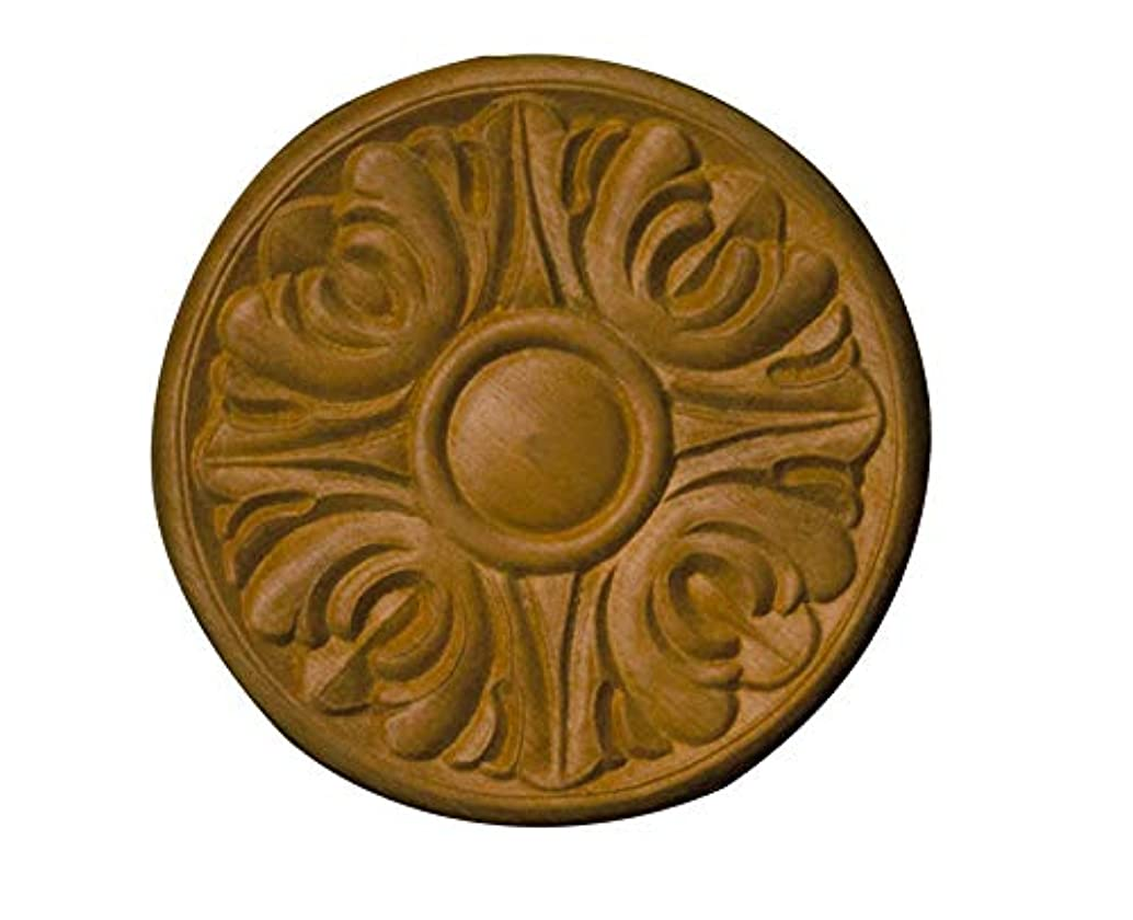Embossed Circle Applique Decorative Wood- 5 1/8