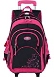 Coofit Cartable a roulette fille en Oxford Sac a dos college fille Cartable fille college scolaire...