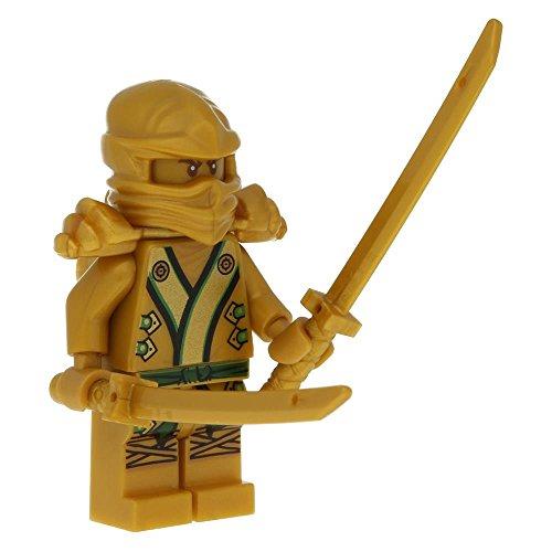 LEGO Ninjago Minifigur Lloyd als goldener Ninja mit 2 goldenen Schwertern