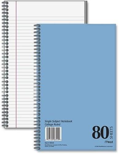 handel von Fall von 25 Mead 1-subject college-ruled notebooks-notebook, 1 ema, College liniert, 80 att, 9–1 5,1 15,2  werden