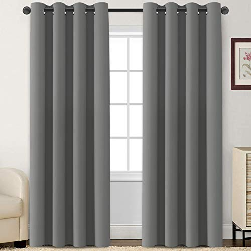Blackout Curtains Room Darkening Curtains Window Panel Drapes for Bedroom/Living
