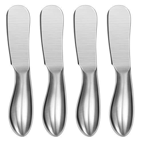 Spreader Knife Set, WoneNice 4-Piece Cheese and Butter Spreader...