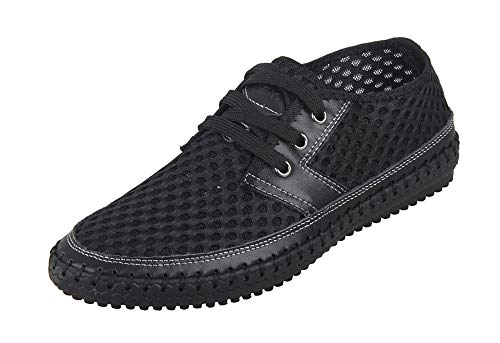 MOHEM Women's Men's Poseidon Water Shoes Lightweight Quick Dry Barefoot Sneaker for Driving Walking Aqua Sports Beach Swim Surf Exercise(WS3166Black45)