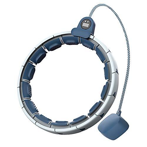 Fangke Smart Hula Hoop - 10. Verbesserter Fitness-Reifen Abnehmbarer, automatisch drehender, Nicht fallender, intelligenter Gegenschwerkraftball mit Dosenmassage, einstellbare, Zur Gewichtsreduktion