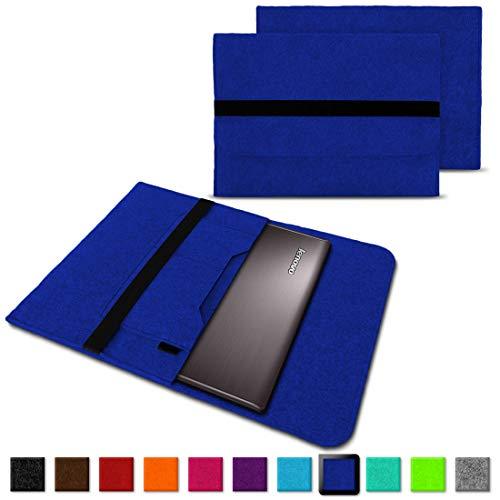 NAUC Notebook Tasche Hülle für Lenovo Yoga C930 900 900 S 910 510 520 530 710 720 730 13,3-14 Zoll Filz Sleeve Schutzhülle aus Filz mit Innentaschen, Farben:Blau