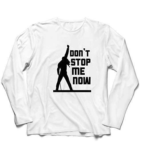 lepni.me Herren T Shirts Don't Stop me Now! Fan Shirts, Musiker Geschenke, Rock Kleidung (XXXXX-Large Weiß Mehrfarben)