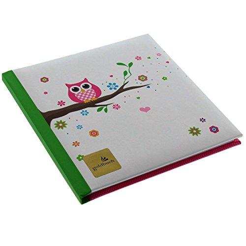 Goldbuch 41043 - Poesiealbum Eule, 16.5 x 16.5 cm, 96 Seiten (Sortiment)