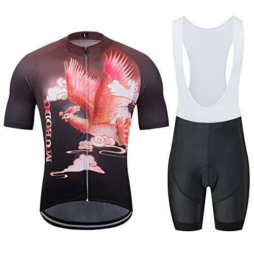 ZMJ Ensemble de Maillot de Cyclisme pour Hommes, Vêtements de Cyclisme À Manches Courtes VTT Respirant À Séchage Rapide D'été (Color : E, Taille : X-Large)