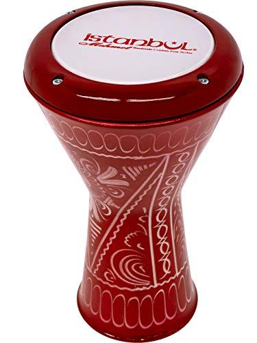 イスタンブール・メメット Istanbul Mehmet ダラブッカ 【ミニ・エジプト・モデル】(アルミ) カラー:レッド