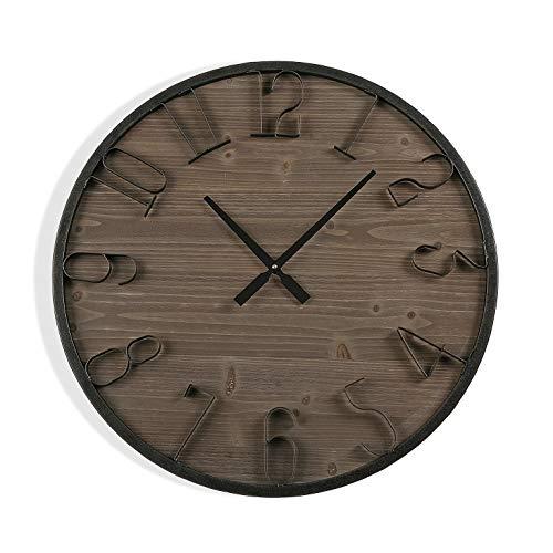 Versa houten wandklok 60 cm, meerkleurig, niet van toepassing