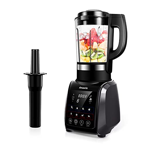 Countertop Blender, 64 oz Blender for Shakes and Smoothies, 1200W Glass Blenders for Kitchen with Cold & Heat Function, Timer, MR-01 Gray