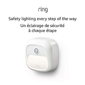 Ring Smart Lighting – Steplight, Battery-Powered, Outdoor Motion-Sensor Security Light, White (Ring Bridge required)