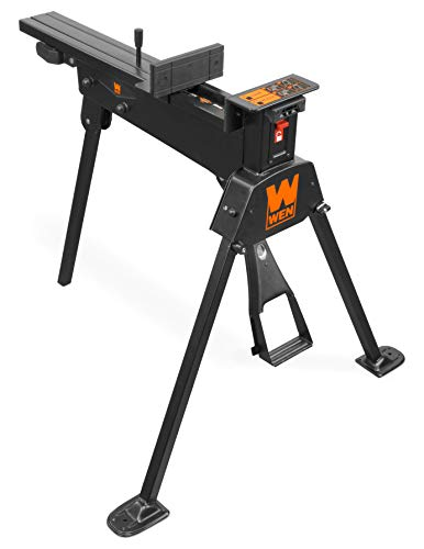 WEN WA600 600-Pound Capacity Portable Clamping Saw Horse Work Bench with Non-Marring Jaws