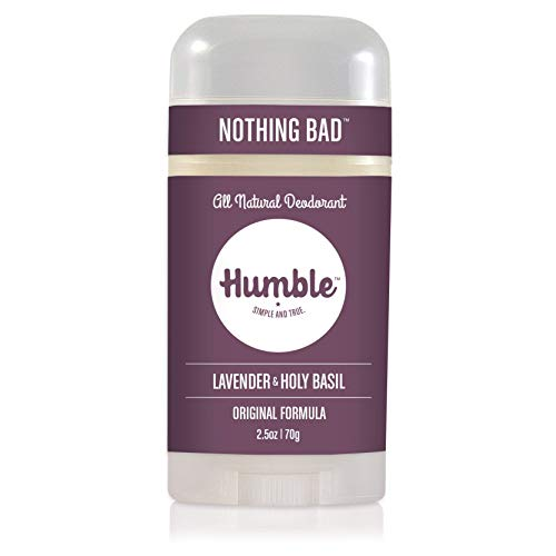 Humble Brands All Natural Aluminum Free Deodorant Stick for Women and Men, Lasts All Day, Safe, and Certified Cruelty Free, Mountain Lavender and Holy Basil, Pack of 1