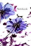 Notebook: Flower Print Lined Notebook Journal (College Ruled) 120 Pages - 6 X 9 inches