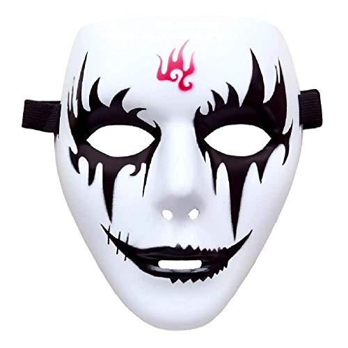 EVRYLON Maske Geist Kuss Weiß Kostüm Karneval Mann Frau Weihnachtsgeburtstagsgeschenkidee Modell 2 Pierrot Hip Hop Street Dance Jabbawockeez Joker Halloween