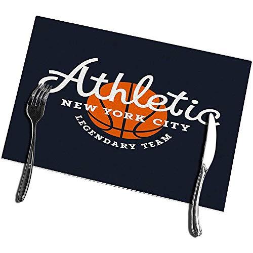 sunnee-shop eettafel, placemats, set van 4 atletische sport, originele sport, vintage, basketbal