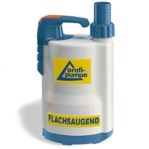 AMUR Flachsaugende Schmutzwasser Tauchpumpe DRAINAGEPUMPE FÄKALIENPUMPE TROPFKÖRPERPUMPE DRAIN-TOP-2-370 als Gartenpumpe zum Bewässern/Entwässern Regenfasspumpe, EU-Qualitätprodukt