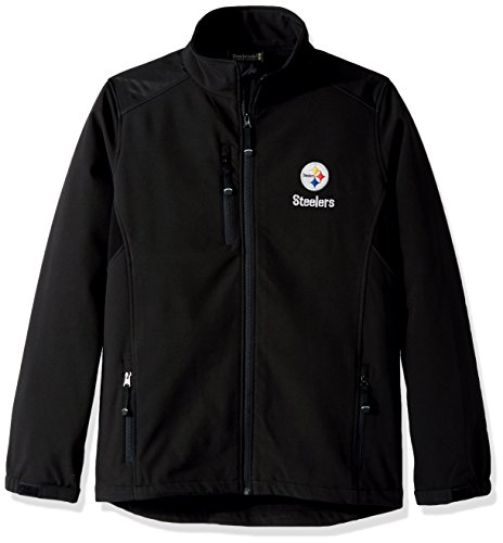 Dunbrooke Apparel NFL Pittsburgh Steelers Men's Softshell Jacket, Large, Black