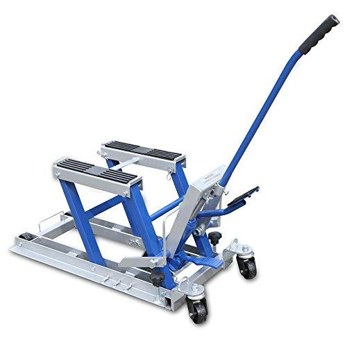 TFCFL 680 kg de elevación hidráulica para motocicleta, soporte elevador con pedal hidráulico para el taller (azul)
