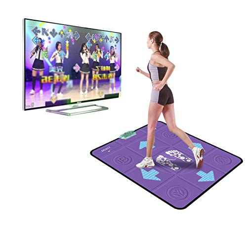 Aniywn Electronic Dance Mats,Non-Slip Dancing Mat,Dance Step Pads,Computer Yoga Game Blanket for Kids Adults (Single-Purple)