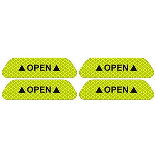 FYLYHWY Car Open Reflective Tape Warning Mark sticker for Mazda Demio 2 3 5 6 M2 M3 M5 M6 CX-5 CX-7 CX-9 RX-8 MX5 MPV (Color : C)