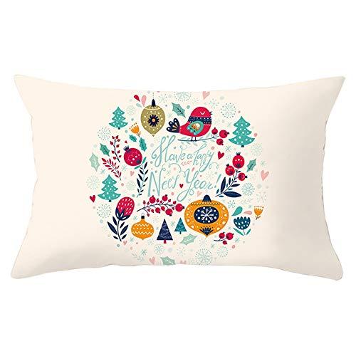 Jingpyij Fundas de Cojines Throw Pillow Case Navidad Cojines Decoracion Terciopelo Suave Fundas de Almohada Rectángulo para Sofá Cama Sillas Coche Dormitorio Decorativo Hogar Y5587 Pillowcase,30x50cm