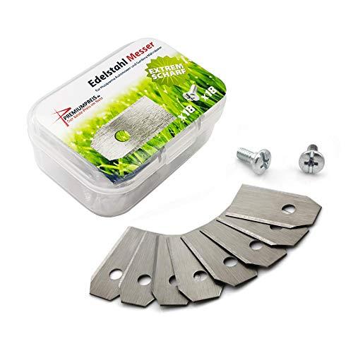 Cuchillas de repuesto para robot cortacésped Husqvarna Automower/Gardena (0,60 mm), incluye tornillos