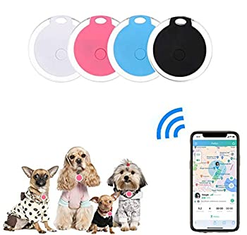 4 Pack Smart Key Finder Locator GPS Tracking Device for Kids Pets Keychain Wallet Luggage Anti-Lost Tag Alarm Reminder Selfie Shutter APP Control Compatible iOS Android