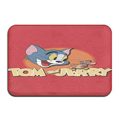 N\A Felpudo para Interior/Exterior Tom y Jerry (17) Alfombrillas traseras de Goma Antideslizantes Alfombras de Regalo para la Entrada
