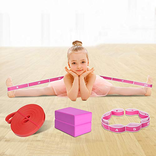 LDLL Resistance Bands, Professionele Kinderen Dans Yoga Stretch Band, Multi-Step Snelheid Aanpassing Bijgestaan ​​Training Oefening Band