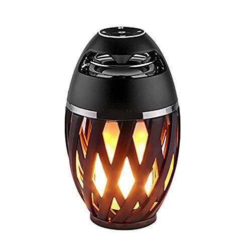 WHSS 1 Unid Impermeable LED Llama Luz Altavoz Bluetooth Toque Suave Luz MP3 Super Woofer Altavoz Pequeño Altavoz Luz De Noche Lámpara De Mesa