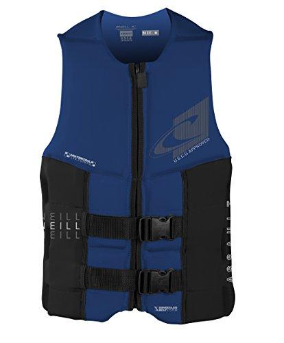 O'Neill Wetsuits Men's Assault USCG Life Vest, Pacific/Black, Large