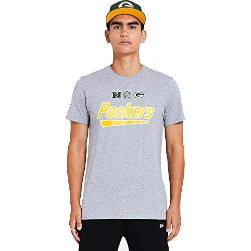 New Era Green bay Packers NFL Shirt Jersey American Football Fanshirt Trikot Grau - L