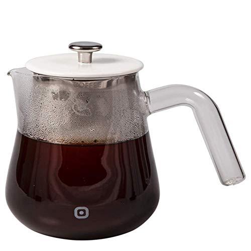 Carl Henkel - ARCA X-Tract Brew Kaffee Dauerfilter 0,5 l mit klarem Griff - Kaffeebereiter für 2-3 Tassen - Kaffee-Brühkanne aus Glas mit Edelstahlfilter. Kein Filterpapier notwendig