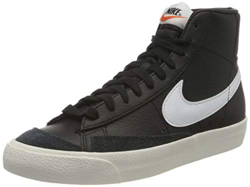 Nike Blazer Mid '77 VNTG, Zapatillas de bsquetbol Hombre, Black White Sail Team Orange, 36 EU
