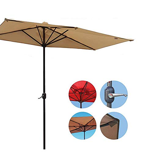 Sonnenschirme im Freien Patio Sonnenschirme für den Garten halbrunde Regenschirme gegen die Wand Terrasse/Gras/Strand/Angelschirm (mit Sockel)