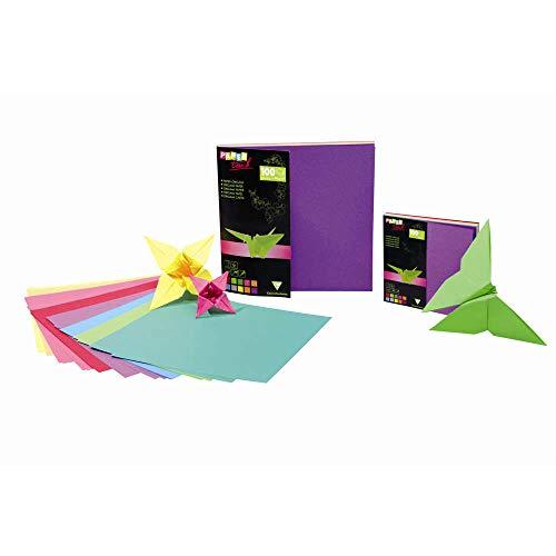 Clairefontaine 95008C - Carta da origami, 12 x 12 cm, confezione da 100 fogli, colori assortiti