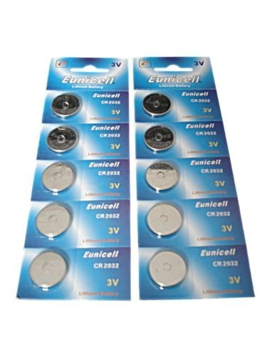 20 X CR2032 DL2032 5004LC CR 2032 Lithium Battery Car Key Fob Cells by Eunicell