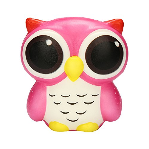 FONMA Adorable Owl Squishy Slow Rising Cartoon Doll Cream Scented Stress Relief Toy
