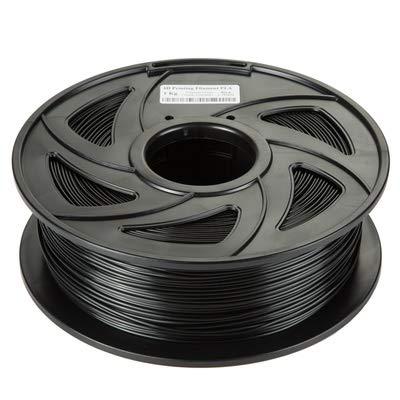 Fucaiqian CCH-YS Materiales, 1 unidad impresora 3D PLA filamento materiales de impresión colorido para impresora 3D extrusora pluma arco iris accesorios de plástico 1 kg 1,75 mm (color: negro)