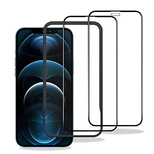 2枚セット iPhone 12 Pro Max 用 ガラスフィルム 2倍強化ガラス液晶保護フィルム 9H硬度 全面保護 防爆裂 指紋防止 気泡ゼロ 自己吸着 飛散防止 6.7インチ iPhone 用 ガイド枠付き