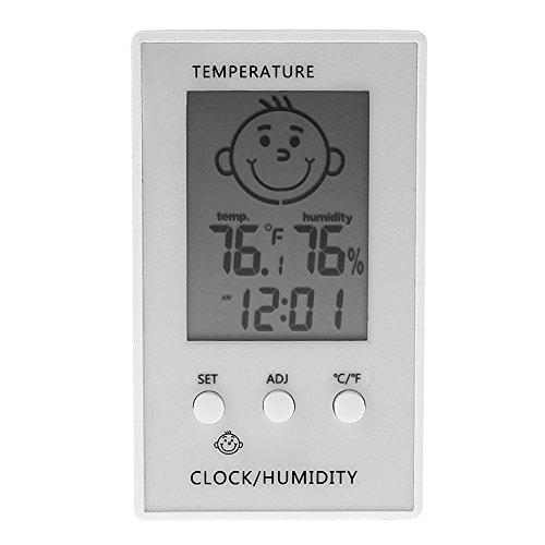 Mengshen Digitales Hygrometer Thermometer, Temp Feuchtigkeitsmesser Gauge Monitor FüR Zuhause/BüRo/Baby Zimmer - TH05, Weiss