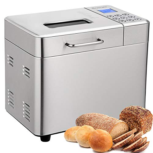 COSTWAY 2LB Bread Maker, 15 Programmable Multifunctional Bread Machine with 15 Programs,Automatic 15...