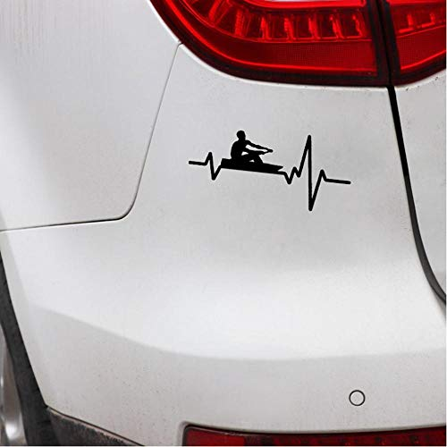 2PCS bemanning roeien peddel kano kajak hartslag Decal Vinyl auto Sticker 16 x 7 cm